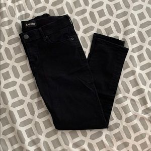 Never Worn Express Cropped Black Jeans (Size 2)